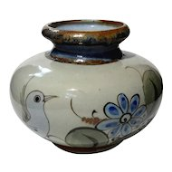 Artist Signed Mexican Glazed Pottery Vase