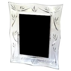 Irish Waterford Crystal Bamboo Picture Frame