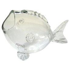 Vintage Blenko Glass Fish Vase