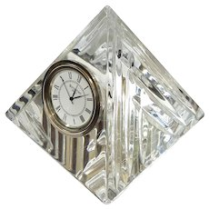 Irish Waterford Crystal Pyramid Clock