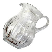 Block Cut Crystal Pitcher
