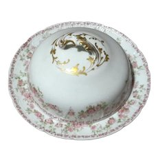 GDA Limoges Porcelain Domed Butter Dish With Insert