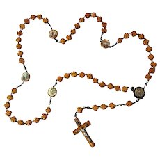 Antique French Wooden Stanhope Rosary