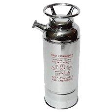 Mid-Century Vintage Thirst Extinguisher Chrome Musical Cocktail Shaker