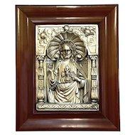 Antique Metal Relief Of Jesus Christ