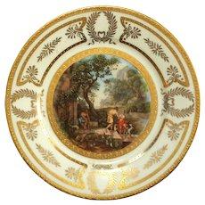 Vintage Austrian Porcelain Cabinet Plate