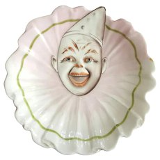 Rare Antique German Porcelain Clown Plate