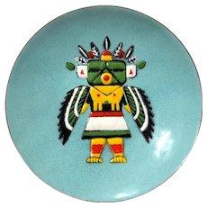 Annemarie Davidson Enamel Kachina Doll Plate