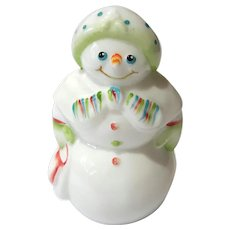 Fenton Glass Artist Signed Snowman