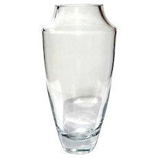 Large Krosno Poland Glass Vase