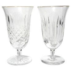 Set Of Two Waterford Crystal Iced Beverage Glasses