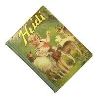 Heidi By Johanna Spyri 1924 Hardcover Saalfield Publishing Co