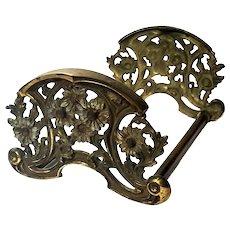H L Judd Expandable Brass Floral Bookrack