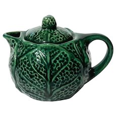 Majolica Pottery Cabbage Teapot