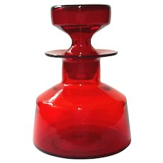 Blenko Glass Ruby Red Decanter