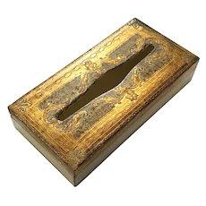 Florentine Gilt Wood Tissue Box