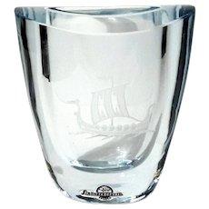 Swedish Strombergshyttan Art Glass Vase