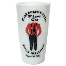 Collegeville Fire Company Red Shirts Glass Tumbler