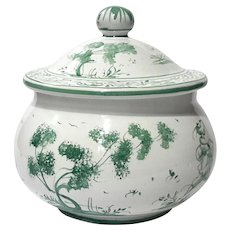Italian Faience Pottery Biscuit Jar