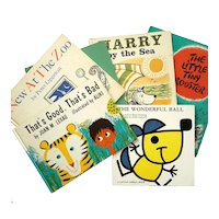 Collection Of Six Vintage Children's Books, Circa 1960