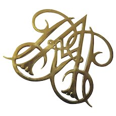 Virginia Metalcrafters Brass Queen Ann Cypher Williamsburg Trivet