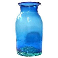Rare Blenko Glass Wave Bottom Vase