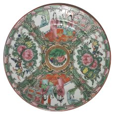 Chinese Rose Canton Porcelain Plate