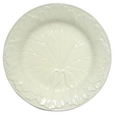 Antique Wedgwood Creamware Leaf Plate