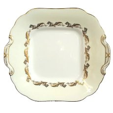 Minton Gold Laurentian Handled Cake Plate