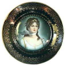 Austrian Beehive Porcelain Portrait Plate