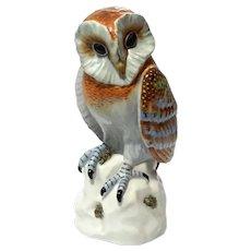 Mottahedeh Porcelain Owl Figure