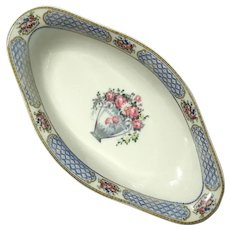 French Limoges Porcelain Oval Bowl