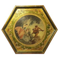Vintage Florentine Gilt Wood Tray