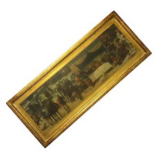 Vintage Florentine Gilt Wood Plaque