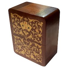 Italian Inlaid Wood Marquetry Card Box