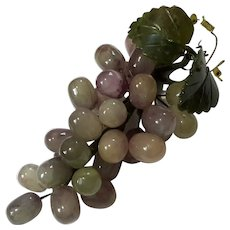 Vintage Chinese Jade Grapes