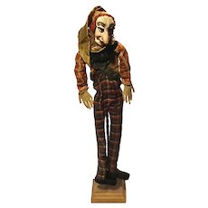 19th Century Folk Art Papier Mache Puppet