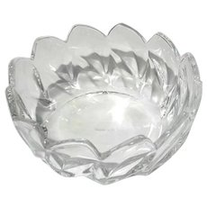 Vintage Tiffany & Co Crystal Leaf Bowl