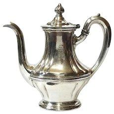 John Bartram Hotel Philadelphia Silver Teapot, Circa 1946