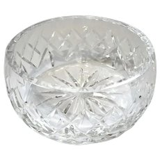 Early Vintage Signed Waterford Cut Crystal Bowl