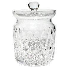 Large Waterford Cut Crystal Colleen Biscuit Barrel