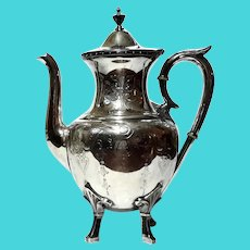 Rogers Smith & Co Silverplated Teapot,  Circa 1868