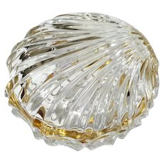 Crystal Scallop Shell Jewel Casket With Gilt Metal Mounts