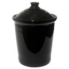Fiesta Medium Black Canister