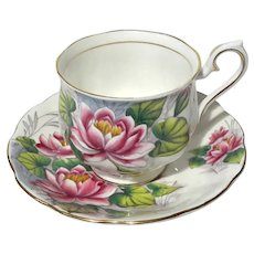 Royal Albert Porcelain Water Lily Cup & Saucer