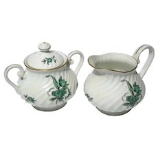 Vista Alegre Portugal Porcelain Olivia Cream & Sugar