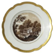 19th Century Old Paris Porcelain Plate