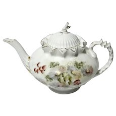 19th Century Continental Porcelain Teapot