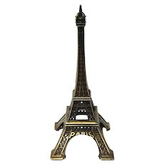 Vintage Metal Eiffel Tower Paris Souvenir