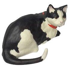 Limited Edition Burgues Bisque Porcelain Cat